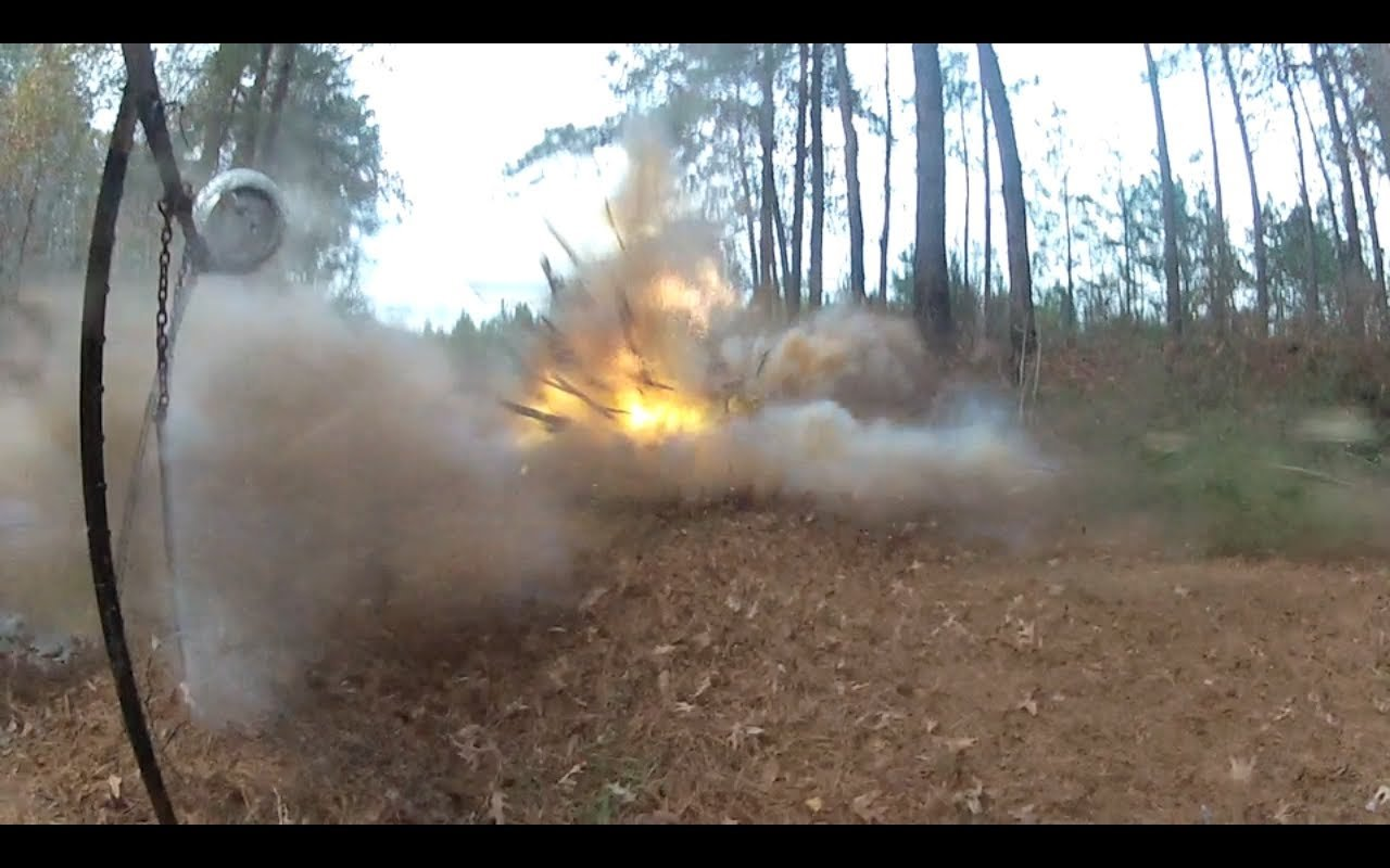 Piano Demolition with Exploding Targets