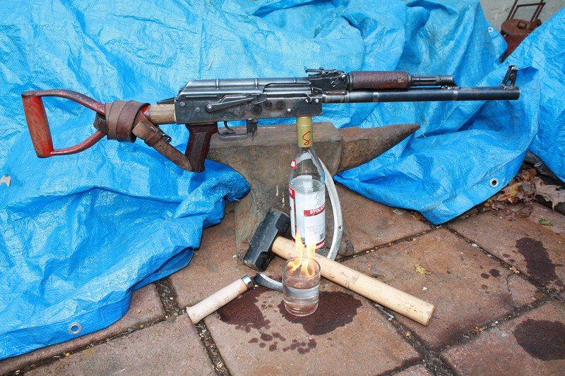 Completed Shovel AK47