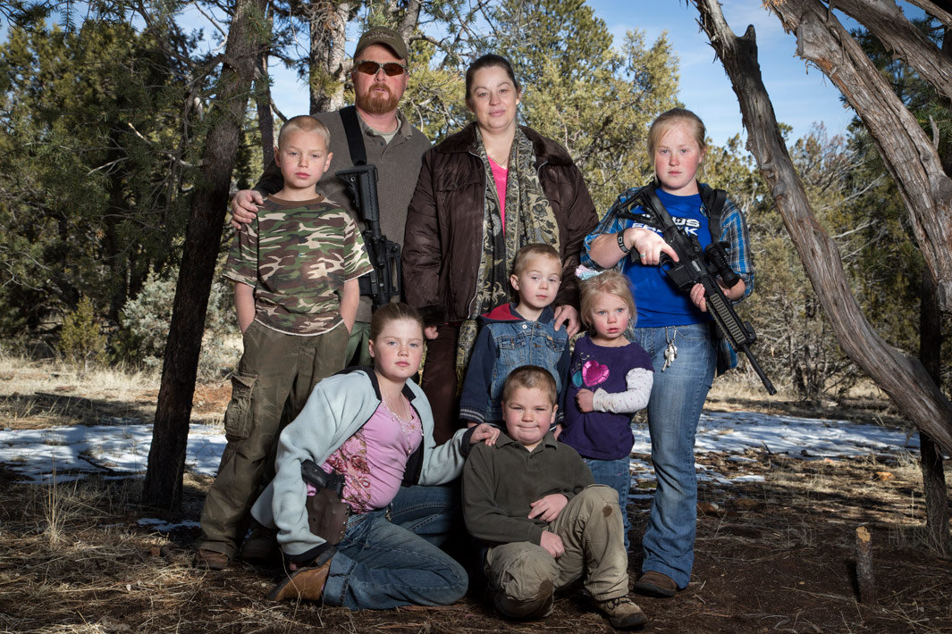 OVERGAARD, AZ - FEBRUARY 23: The Moffatt family at their home on