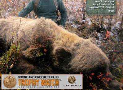Boone and Crockett Club Recognizes Record Hunter-taken Grizzly