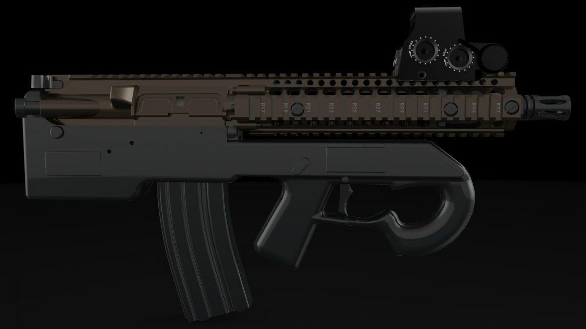 Designs for 3D-printable AR-15 Bullpup Lower Released
