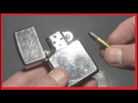Video: Can a Zippo Lighter Stop a .22?