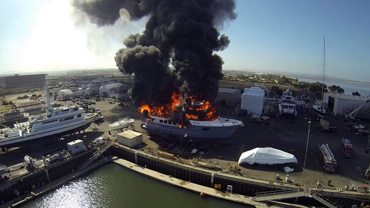 GoPro-Equipped Drone Captures $24 Million Yacht Going Up in Flames
