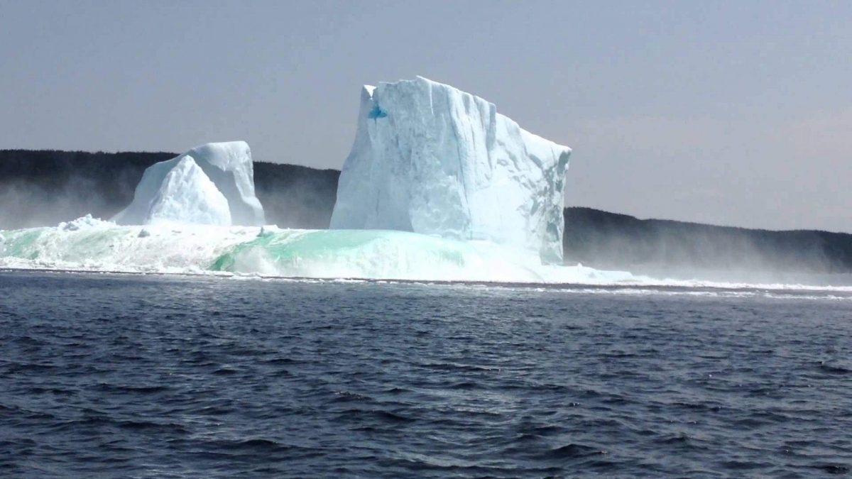Husband and Wife Were Admiring 'Arch of This Huge Iceberg' When This Happened…(Video)