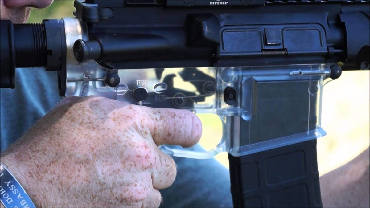 Now You See It… CLEAR AR-15 Receiver Prototype