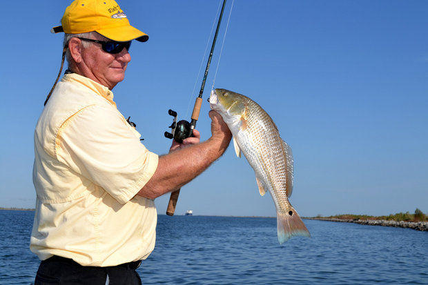 Low Mississippi River allows redfish, flounder to shift toward Venice