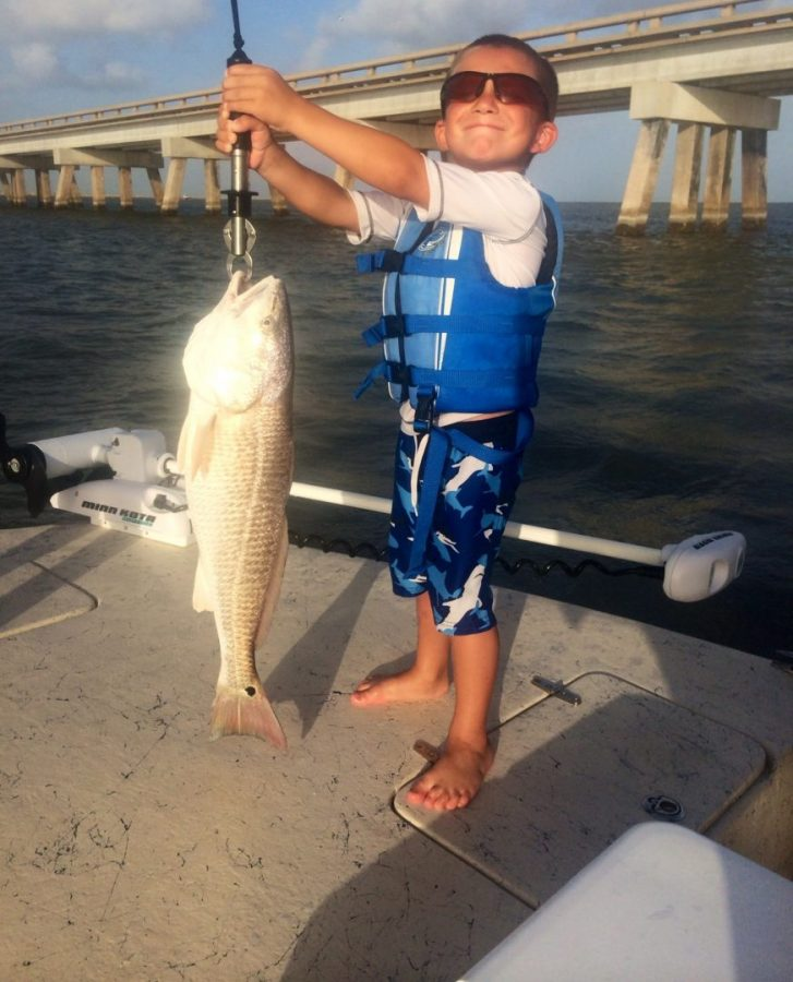 first time fishing the bay...made his day!