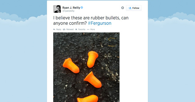 Huffington Post Reporter Can't Tell the Difference Between Earplugs and Rubber Bullets