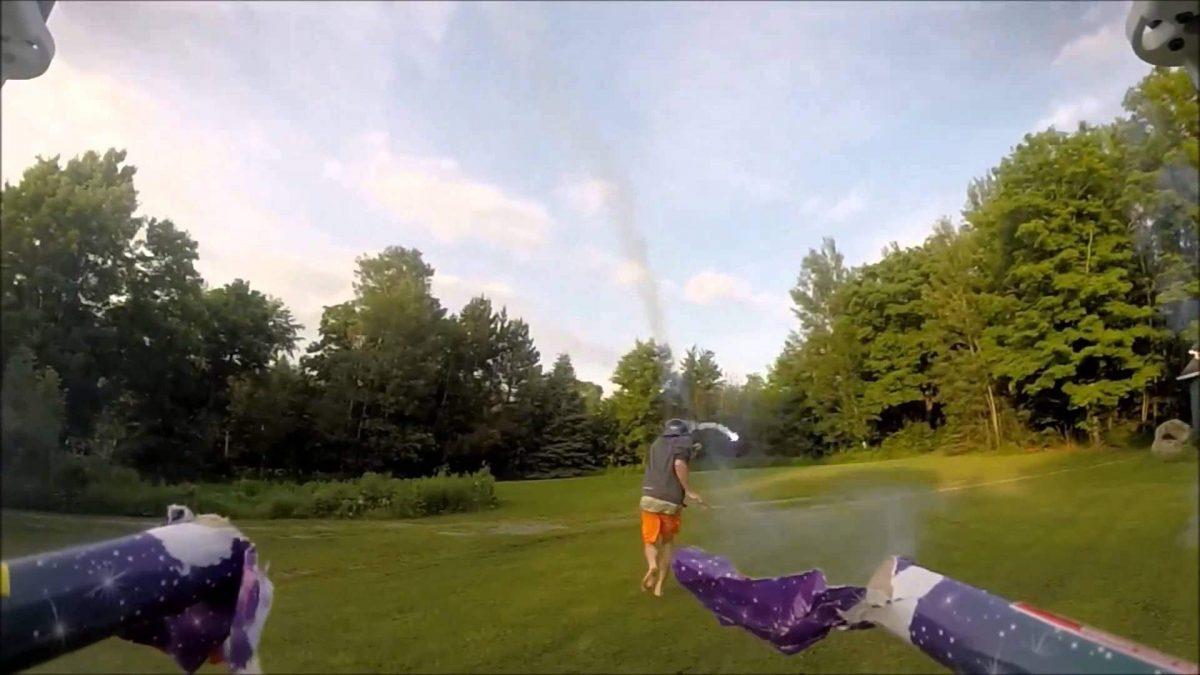 Rocket Firing Drone