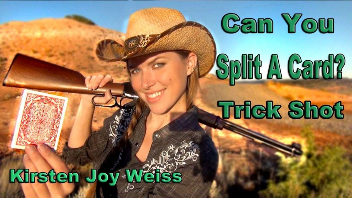 Watch This Female Sharpshooter Nail Annie Oakley's Card-Splitting Trick