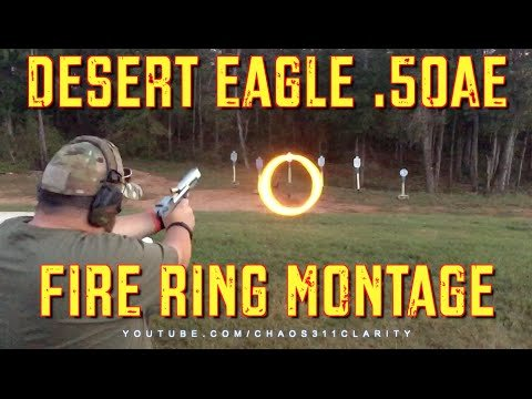 """Shooting """"Fire Rings"""" with a Desert Eagle (VIDEO)"""