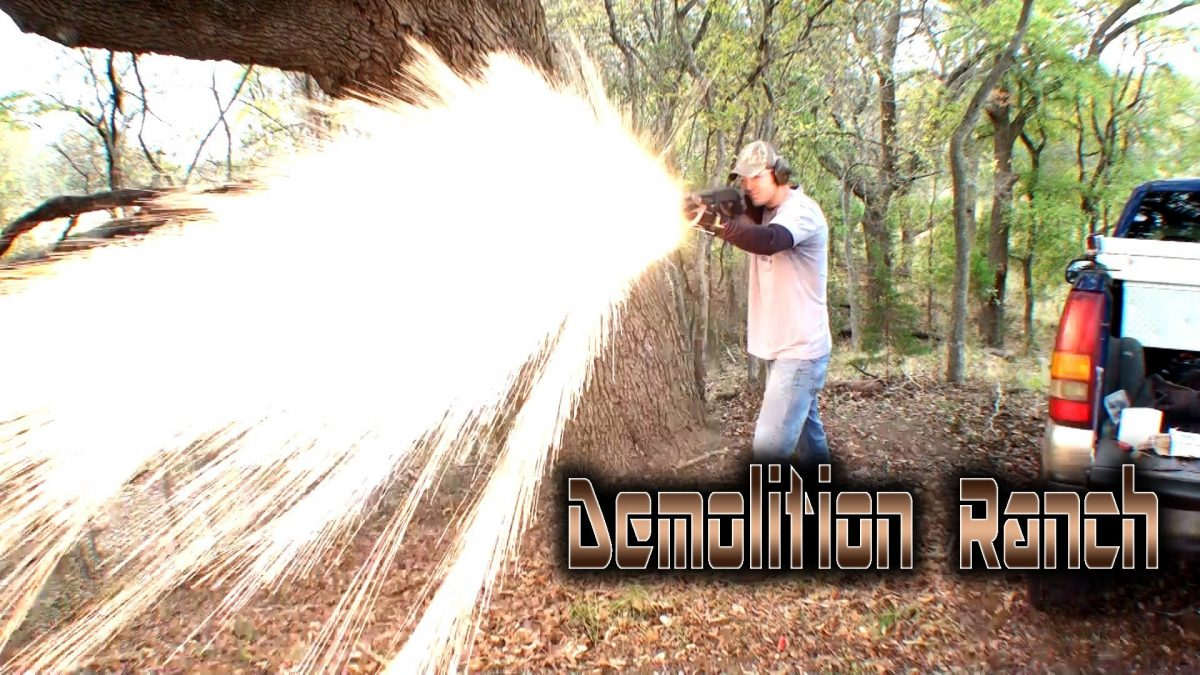 Shooting Titanium Shards Out of a Shotgun (VIDEO)