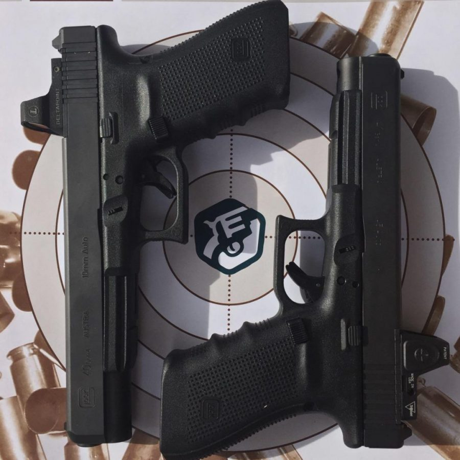 The new Glocks - Optics ready.  These are in 10mm and .45
