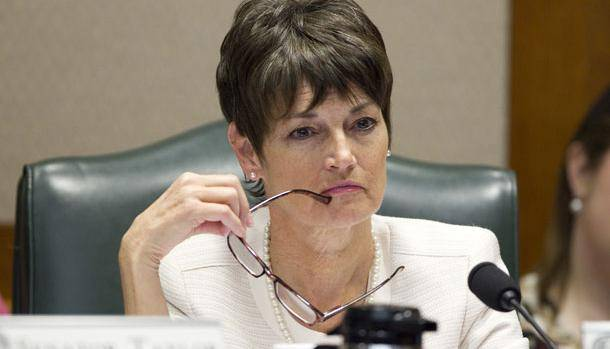 "Texas state Sen. Donna Campbell (R) wants to see fewer ""no guns allowed"" signs in public buildings."