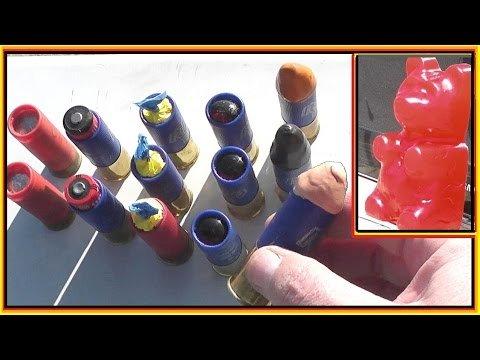 """Unique"" Shotgun Rounds vs. Giant Gummy Bear"