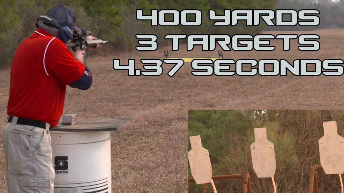 3 Targets At 400 Yards In 4.4 Seconds! (VIDEO)