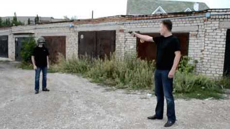 Fearless Russians Test Out Bulletproof Helmet While Wearing It (VIDEO)