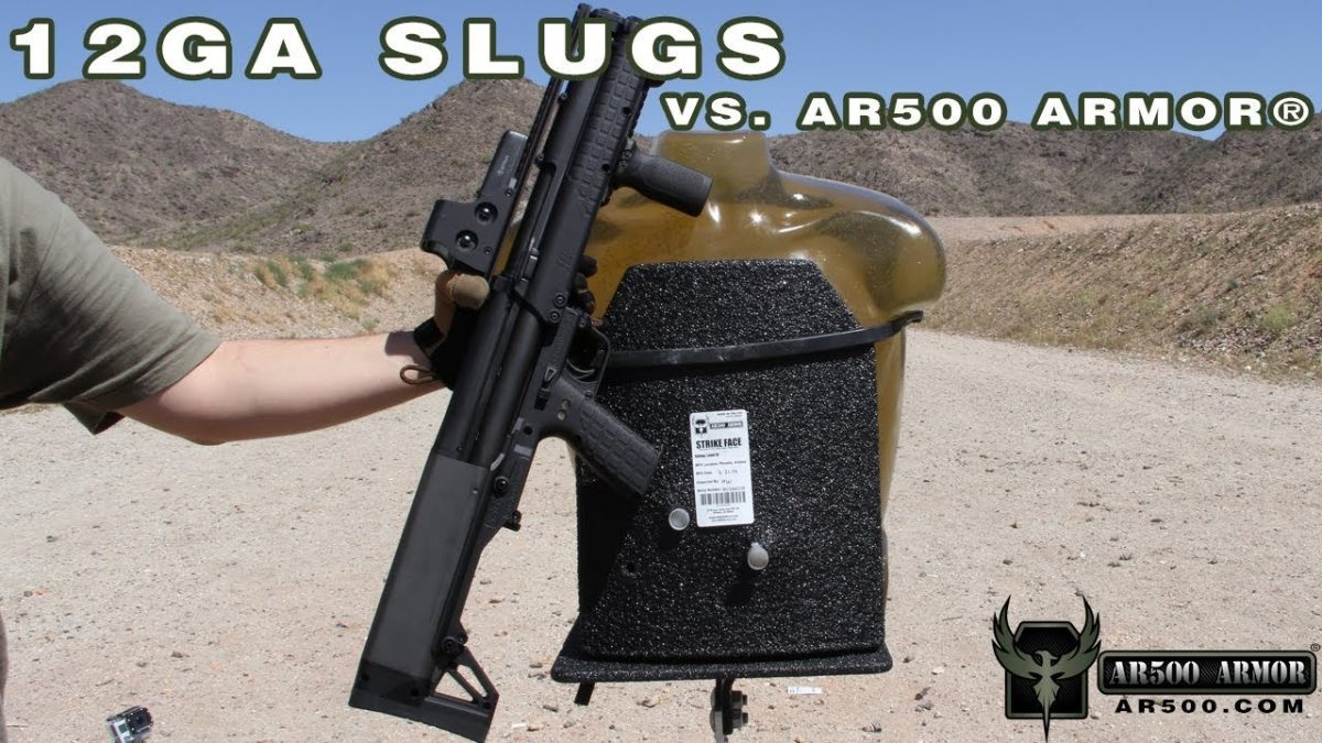 Pitting body armor against 1-ounce, 12 gauge slugs (VIDEO)