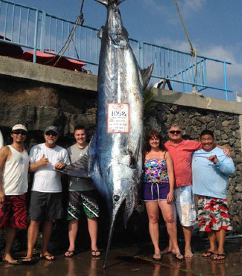 Teen reels in 1,058-pound blue marlin off Hawaii