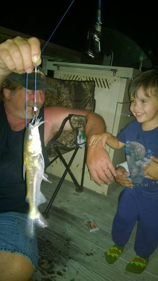 Soren's first fish