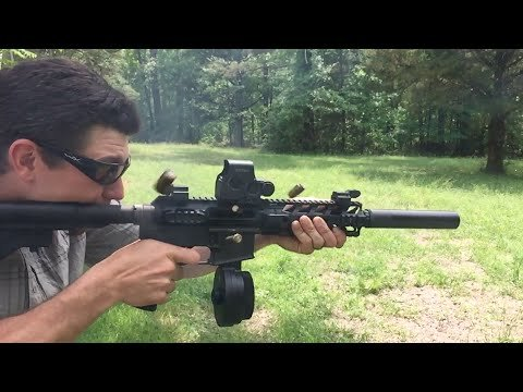 WATCH: Suppressed Full Auto 9mm 50 Round Magdump