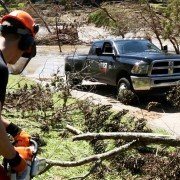 First Response Team and RAM Truck aid in active flood relief
