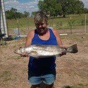 Glenda's first big trout