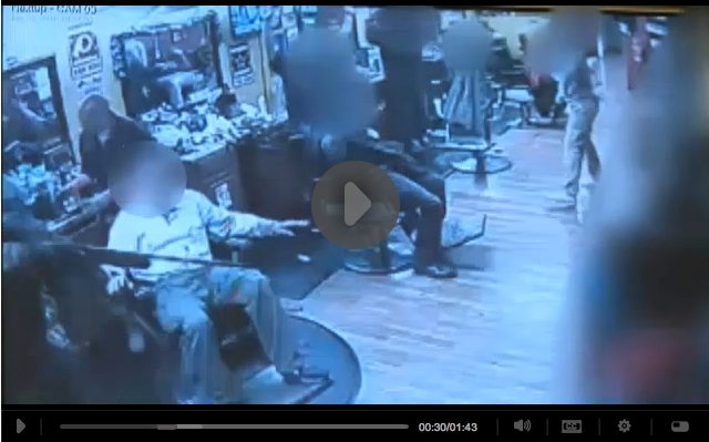 Armed Citizens Open Fire and Stop Barbershop Robbery [VIDEO]