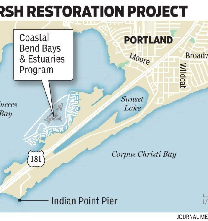 Nueces Bay Marsh Restoration Project is moving along to completion