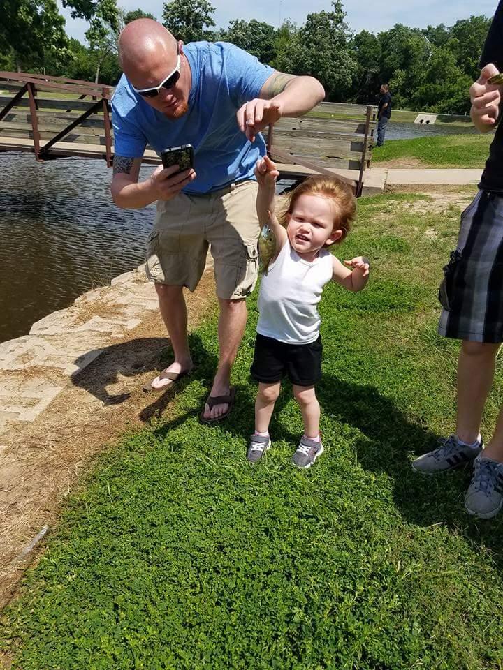 Bellas first fish