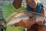 Texas Hostshots: 23 inch trout drifting in E. Matagorda Bay