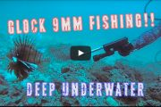 Underwater Lionfish Eradication with a Suppressed Glock 9mm!