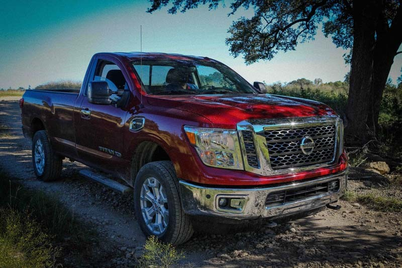 """The 2017 Nissan TITAN XD stakes out a unique position in the segment between traditional heavy-duty and light-duty entries. In its 2016 Texas Truck Rodeo, the Texas Auto Writers Association (TAWA) named the TITAN XD Single Cab Diesel the """"Commercial Vehicle of Texas."""" The truck is a true workhorse designed to tackle the toughest jobs, powered by the Cummins® 5.0L V8 Turbo Diesel, which is rated at 310 horsepower and 555 lb-ft of torque."""